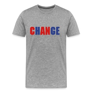 ChANge - Gray/Blue/Red - Mns - Men's Premium T-Shirt