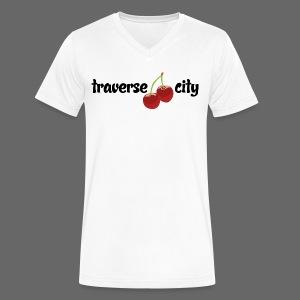 Traverse City - Men's V-Neck T-Shirt by Canvas