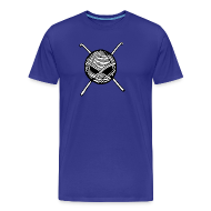 T-Shirts ~ Men's Premium T-Shirt ~ KnitterBugs Skull