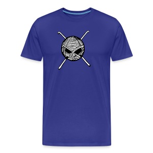 KnitterBugs Skull - Men's Premium T-Shirt
