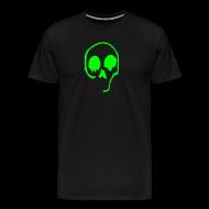 T-Shirts ~ Men's Premium T-Shirt ~ Neon Green Skull