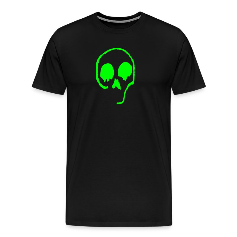 Neon Green Skull - Men's Premium T-Shirt
