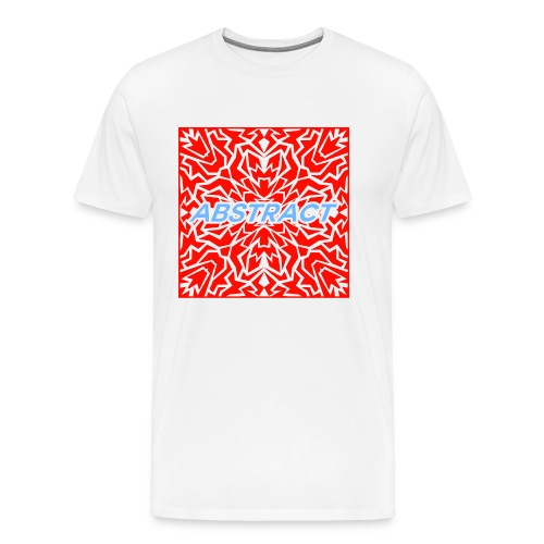 Abstract (Red) - Men's Premium T-Shirt