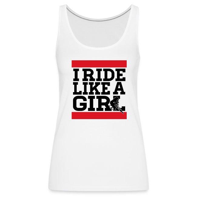 I Ride Like A Girl Text - Tank (Womens)