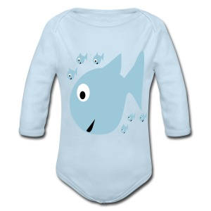 Fishes - Long Sleeve Baby Bodysuit