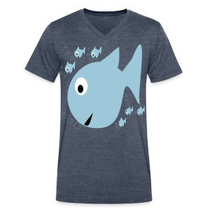 Fishes - Men's V-Neck T-Shirt by Canvas