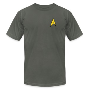 Mission Log Gray Shirt - Men's T-Shirt by American Apparel