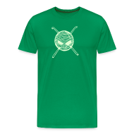 T-Shirts ~ Men's Premium T-Shirt ~ Glow in Dark KnitterBugs Skull