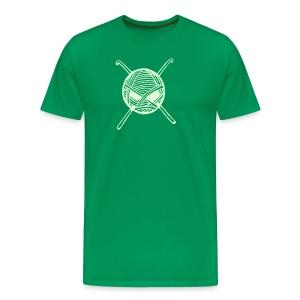 Glow in Dark KnitterBugs Skull - Men's Premium T-Shirt