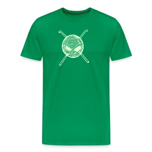 Glow in Dark KnitterBugs Skull - Men's Premium T-Shirt