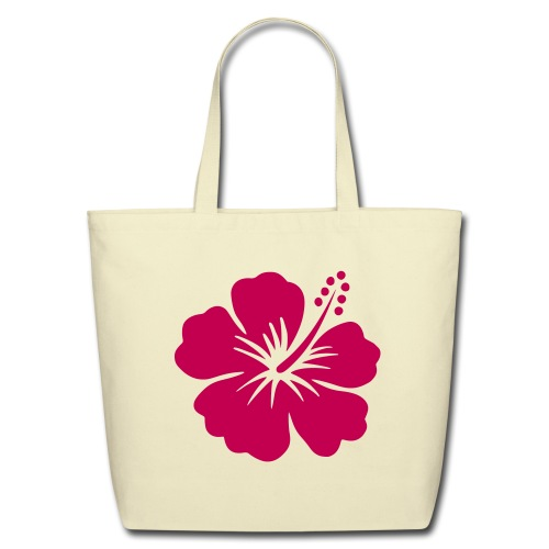 NEW!    Hibiscus Flower - Eco-Friendly Cotton Tote