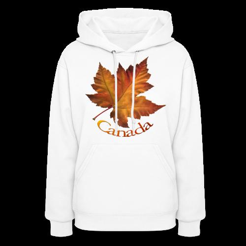 Women's Canada Hoodie Maple Leaf Souvenir Hooded Sweatshirt - Women's Hoodie