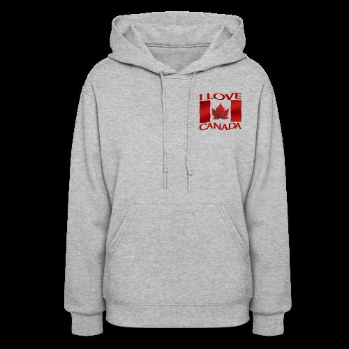 I Love Canada Women's Hoodie Souvenir Sweatshirts - Women's Hoodie