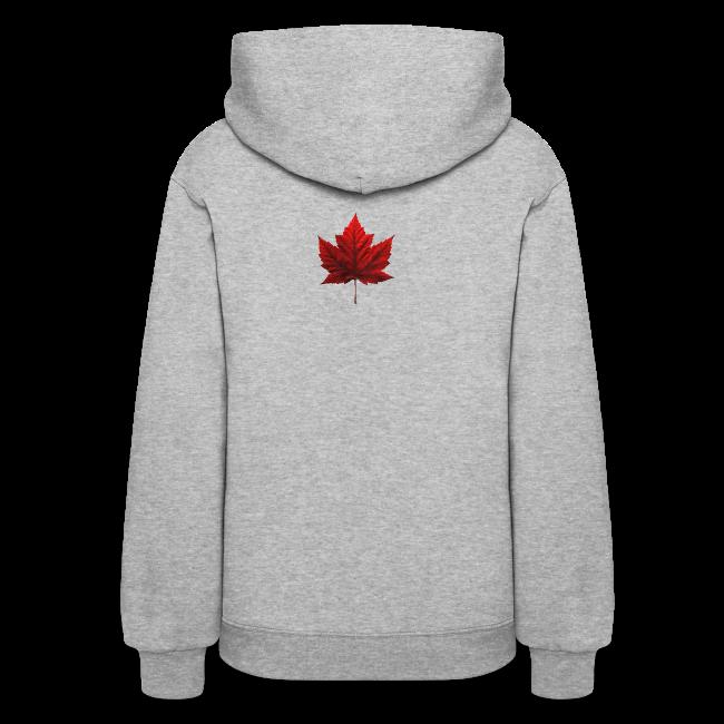 I Love Canada Women's Hoodie Souvenir Sweatshirts