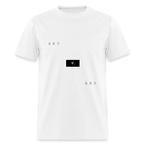 ART v. ART Basic White Tee (Black & White) - Men's T-Shirt