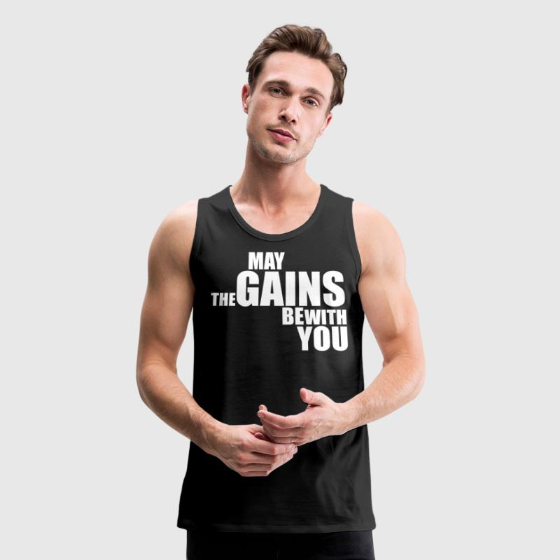 Premium Tank Top May The Gains Be With You - Men's Premium Tank