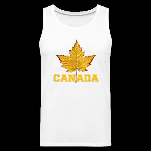 Men's Varsity Canada Muscle Shirt Team Canada Souvenir Shirts - Men's Premium Tank