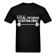 T-Shirts ~ Men's T-Shirt ~ Total Fitness Bodybuilding Barbell T-Shirt