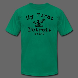 My First Detroit Shirt - Men's T-Shirt by American Apparel