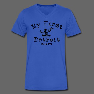 My First Detroit Shirt - Men's V-Neck T-Shirt by Canvas