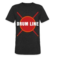 Drum Line - Unisex Tri-Blend T-Shirt by American Apparel