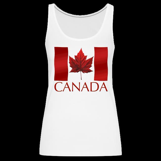 Women's Canada Souvenir Tank Top Canadian Flag Souvenir