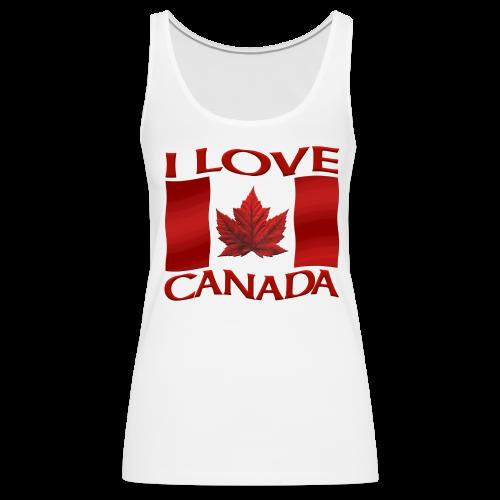 I Love Canada Shirt Women's Canada Tank Top - Women's Premium Tank Top