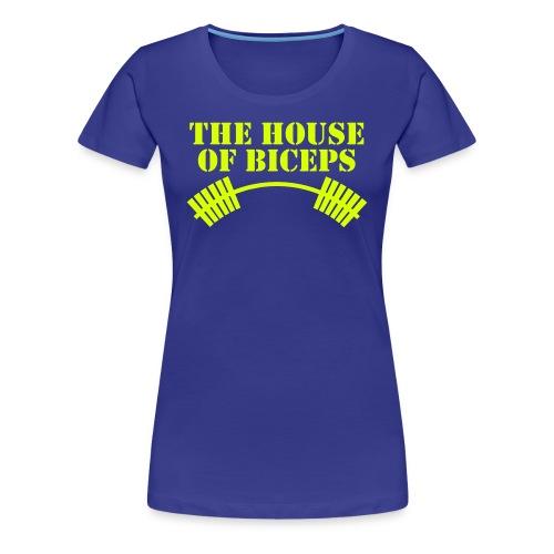House of Biceps - women's premium tee - with neon print - Women's Premium T-Shirt