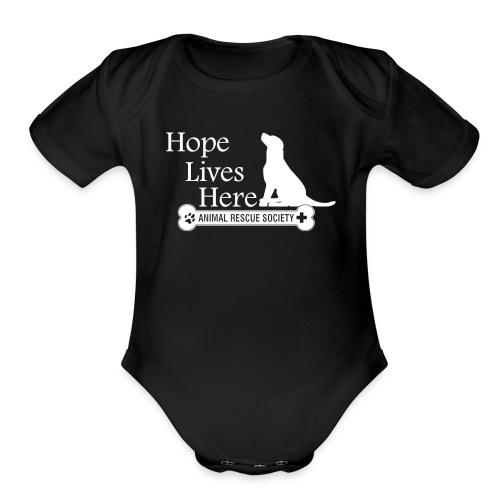Hope Lives Here Logo Infant   - Organic Short Sleeve Baby Bodysuit