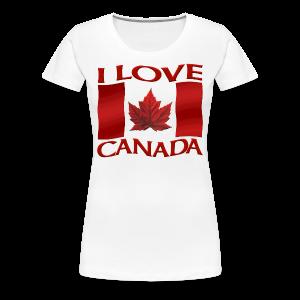 Women's Canada T-shirt I Love Canada Plus Size Shirts Souvenir - Women's Premium T-Shirt