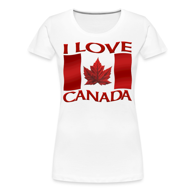Women's Canada T-shirt I Love Canada Plus Size Shirts Souvenir