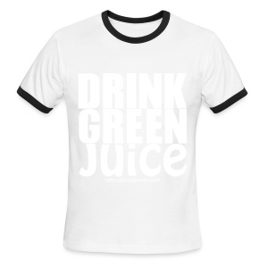 Drink Green Juice - Men's Ringer Tee - Men's Ringer T-Shirt
