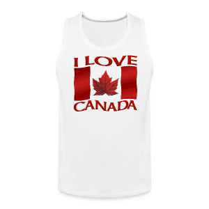 I Love Canada Men's Tank Top Canada Flag Souvenir Shirts - Men's Premium Tank