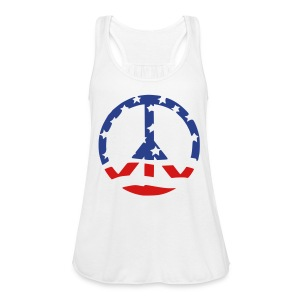 Women's Flowy Tank Top by Bella - 4th of july,American flag,afro,coily,crop top,curly,independence day,kinky,love,nappy,natural hair,natural hair t-shirts,pick,t-shirts,womens t-shirts