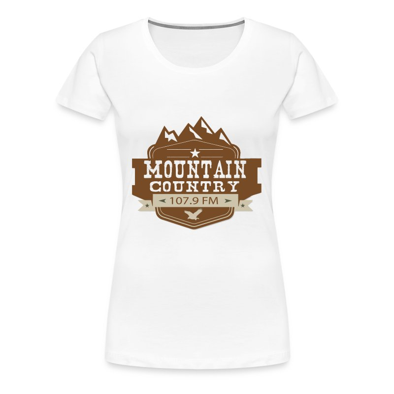 Mountain Country 107.9 Ladies Premium T-Shirt - Women's Premium T-Shirt