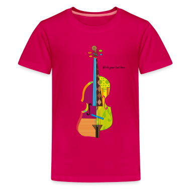 A colorful violin Kids...