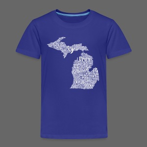 Michigan Words - Toddler Premium T-Shirt