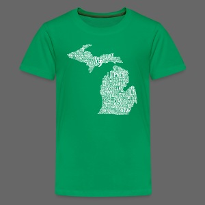 Michigan Words - Kids' Premium T-Shirt