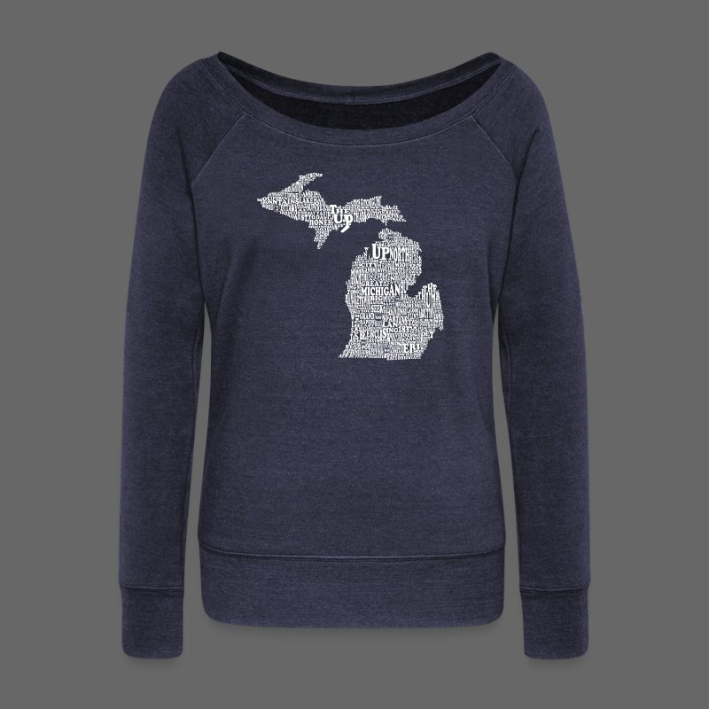 Michigan Words - Women's Wideneck Sweatshirt