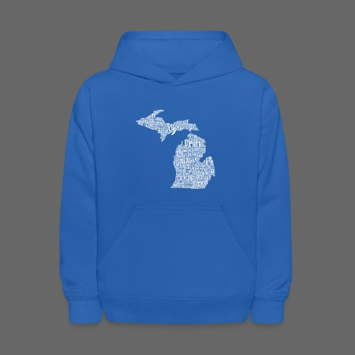 Michigan Words - Kids' Hoodie