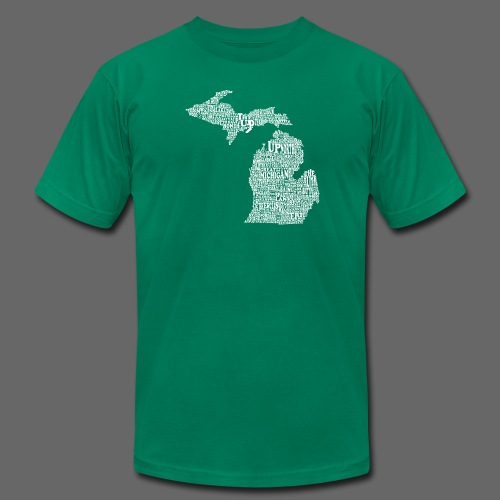 Michigan Words - Men's T-Shirt by American Apparel