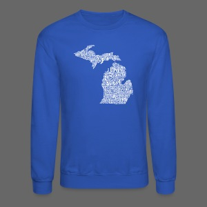 Michigan Words - Crewneck Sweatshirt