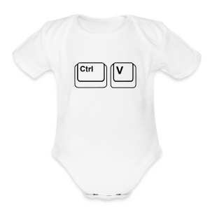 CTRL + V (Infant), copy and paste - Short Sleeve Baby Bodysuit