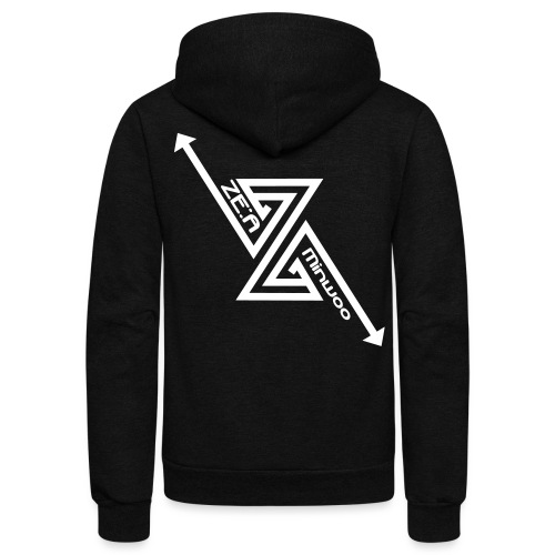 ZEA - Minwoo - Unisex Fleece Zip Hoodie by American Apparel
