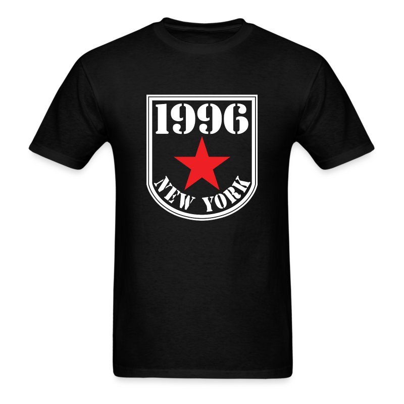 Black 1996 NY Love the Club Hate the Brand Men's T-shirt - Men's T-Shirt