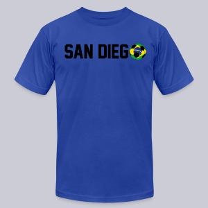 San Diego Brazil Soccerball - Men's T-Shirt by American Apparel