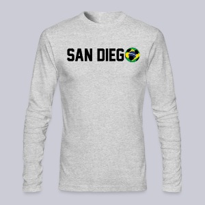 San Diego Brazil Soccerball - Men's Long Sleeve T-Shirt by Next Level