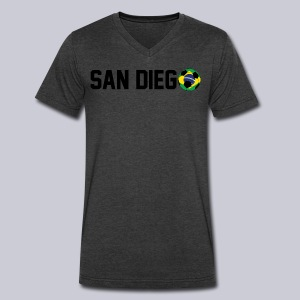 San Diego Brazil Soccerball - Men's V-Neck T-Shirt by Canvas