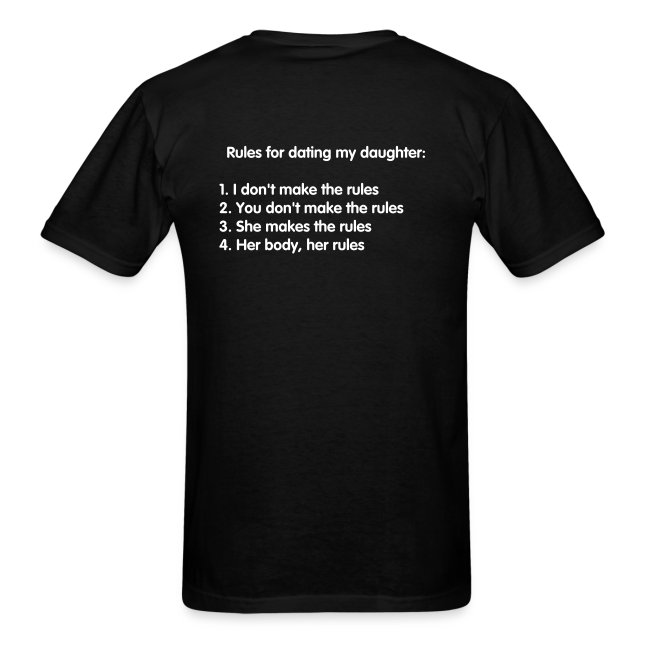 Her Body Her Rules Mens Tee Back