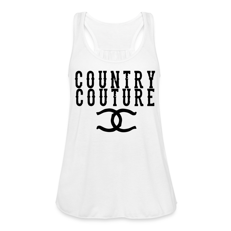 Country Couture Flowy Tank - Women's Flowy Tank Top by Bella